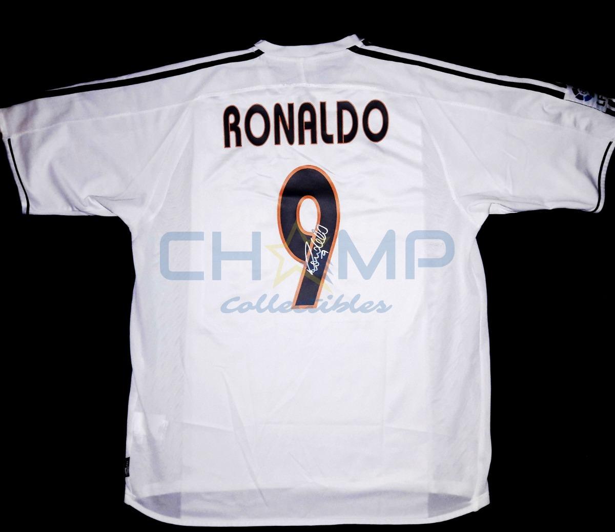 huge selection of b9e2e 8c612 Jersey Firmado Ronaldo Real Madrid Galacticos R9 Autografo