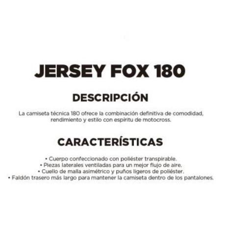 jersey fox 180 mastar naranja motocross utv atv enduro