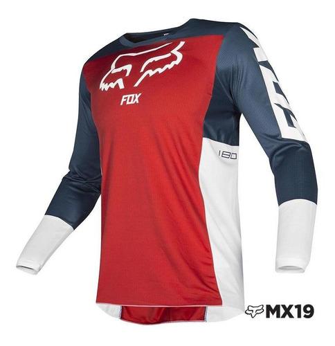 jersey fox 180 przm · navy/rojo