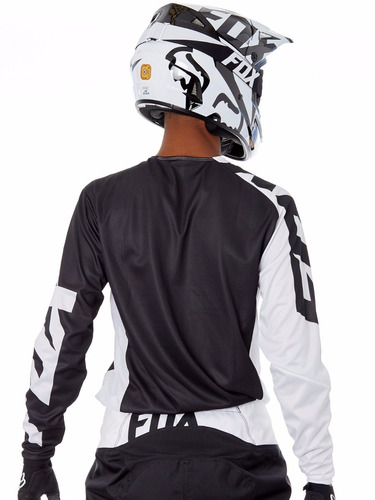 jersey fox 180 race negro motocross mtb downhill rzr atv