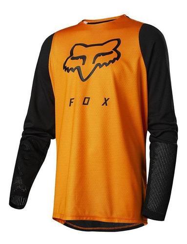 jersey fox para niños defend ls naranja