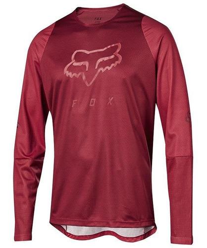 jersey fox para niños defend ls rojo cardenal