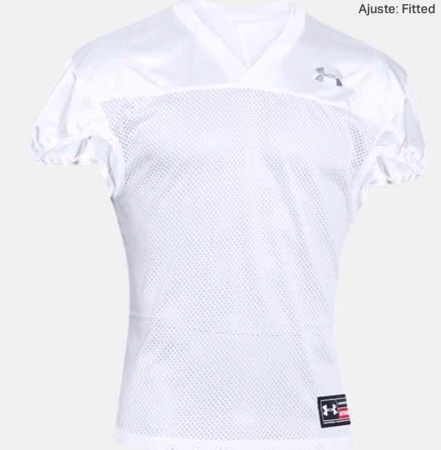 Jersey Futbol Americano Talla M, Under Amour. Color Blanco ...