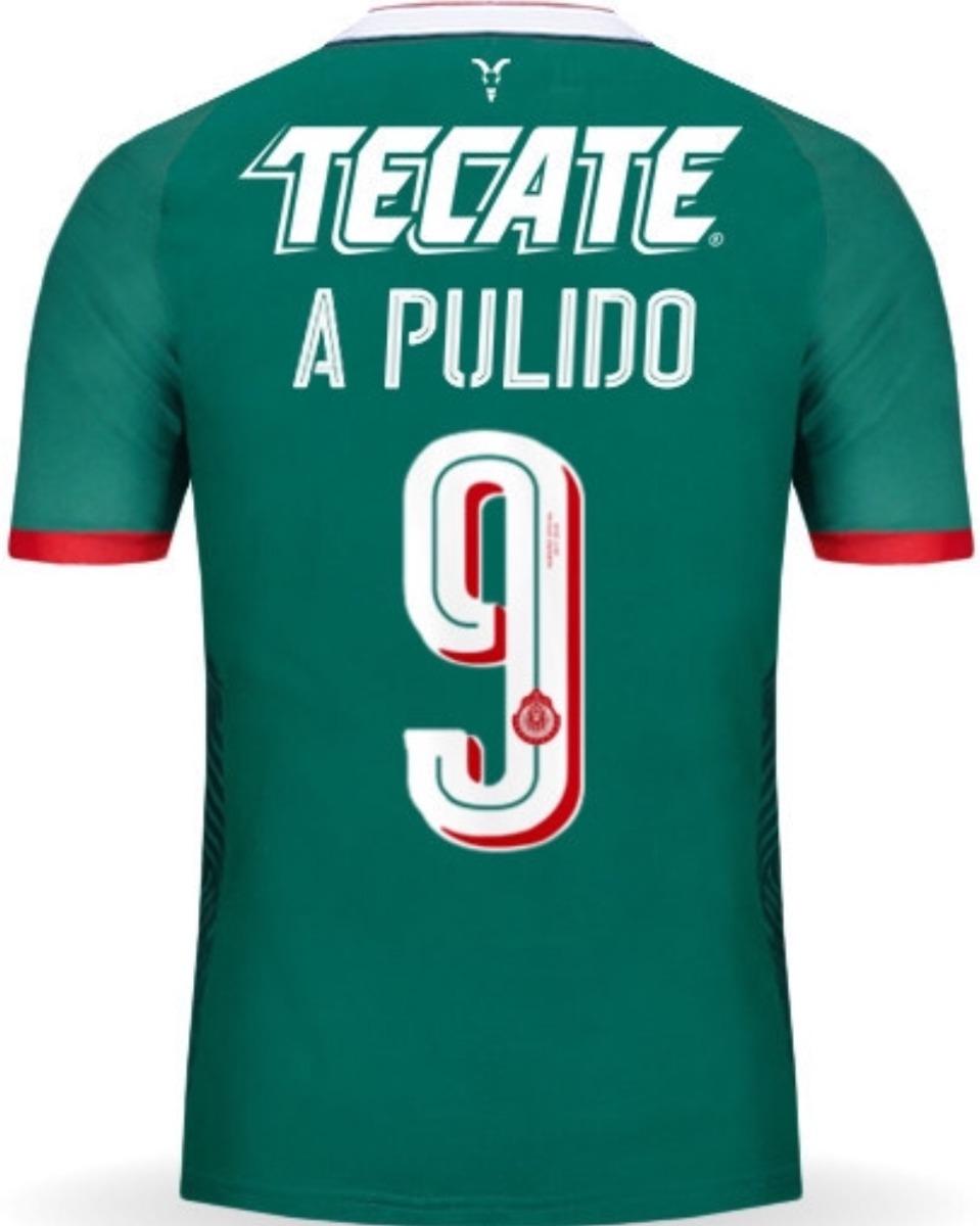 sale retailer 0e744 9fd96 Jersey Guadalajara 2018 Verde Chivas Alan Pulido Envío Grati