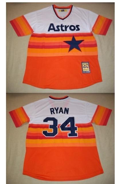 quality design 17f71 669c9 Jersey Houston Astros Retro 80 Nolan Ryan Talla Grande Nueva