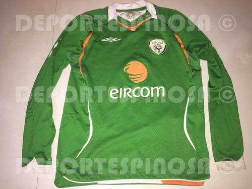jersey irlanda 2008-2009 umbro local manga larga