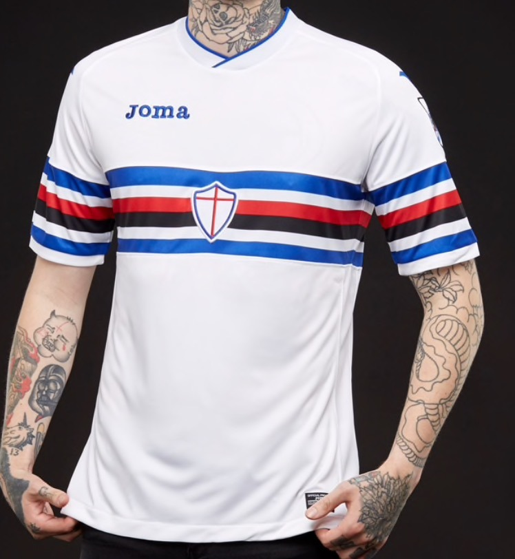 Jersey Joma Sampdoria Italia Visita 2017-18 Original -   2 eac3ac852392c