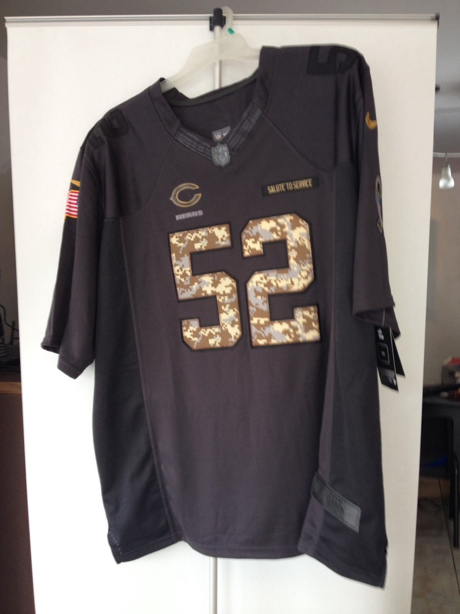 buy popular 0c103 ba60c Jersey Khalil Mack Chicago Bears Nfl Salute To Service
