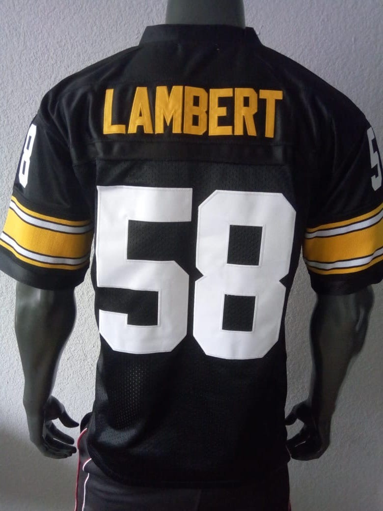 info for 1dc10 1a57d Jersey Mediano Pittsburgh Steelers Jack Lambert Retro