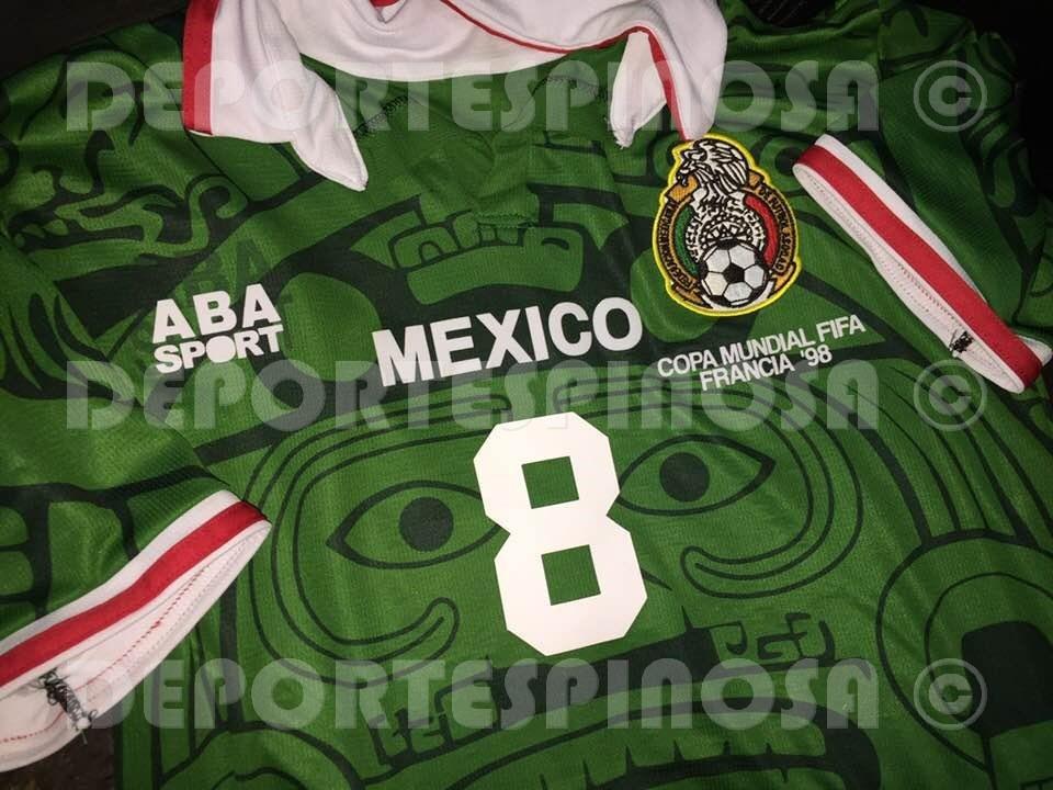7d341e474a8 Jersey Mexico 1998 Mundial Aba Sport Local  8 Aspe -   699.00 en ...