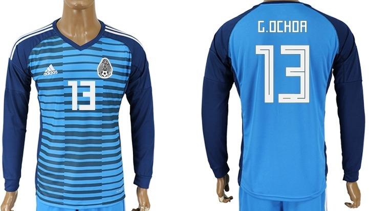 85ed89dc7dff6 jersey mexico 2018 portero azul m larga parches fifa ochoa