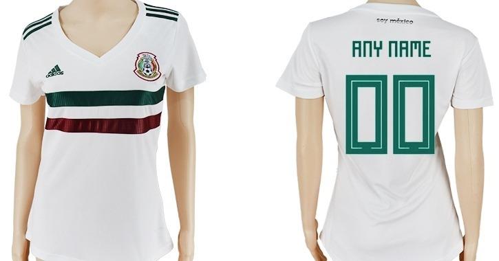2ba7e10331f23 Jersey Mexico Dama Mujer Blanca 2018 Parches Fifa Chicharito ...
