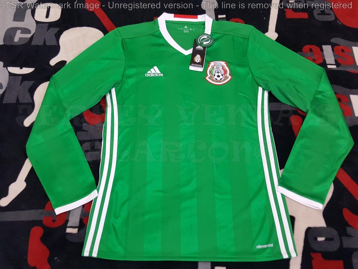 f23350fc14d86 jersey mexico verde manga larga adidas climacool 2016-2017. Cargando zoom.