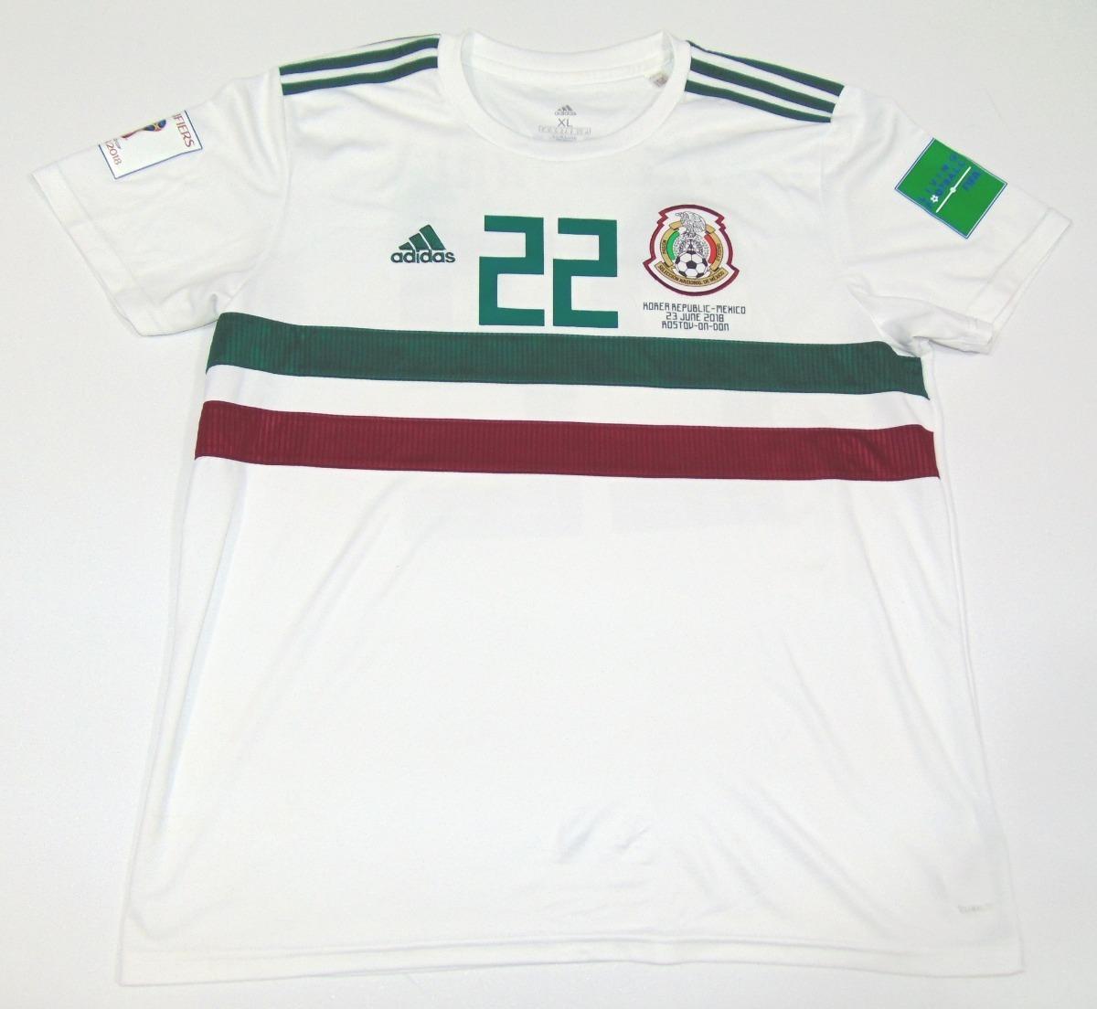 wholesale dealer 1c822 fceea Jersey Mexico Wc 2018 Hirving Lozano Visita adidas Pachuca Napoli Psv
