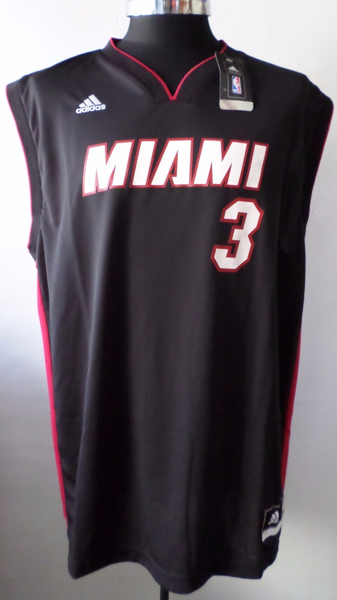huge selection of a3048 34330 Jersey Miami Heat adidas Wade Talla M Original