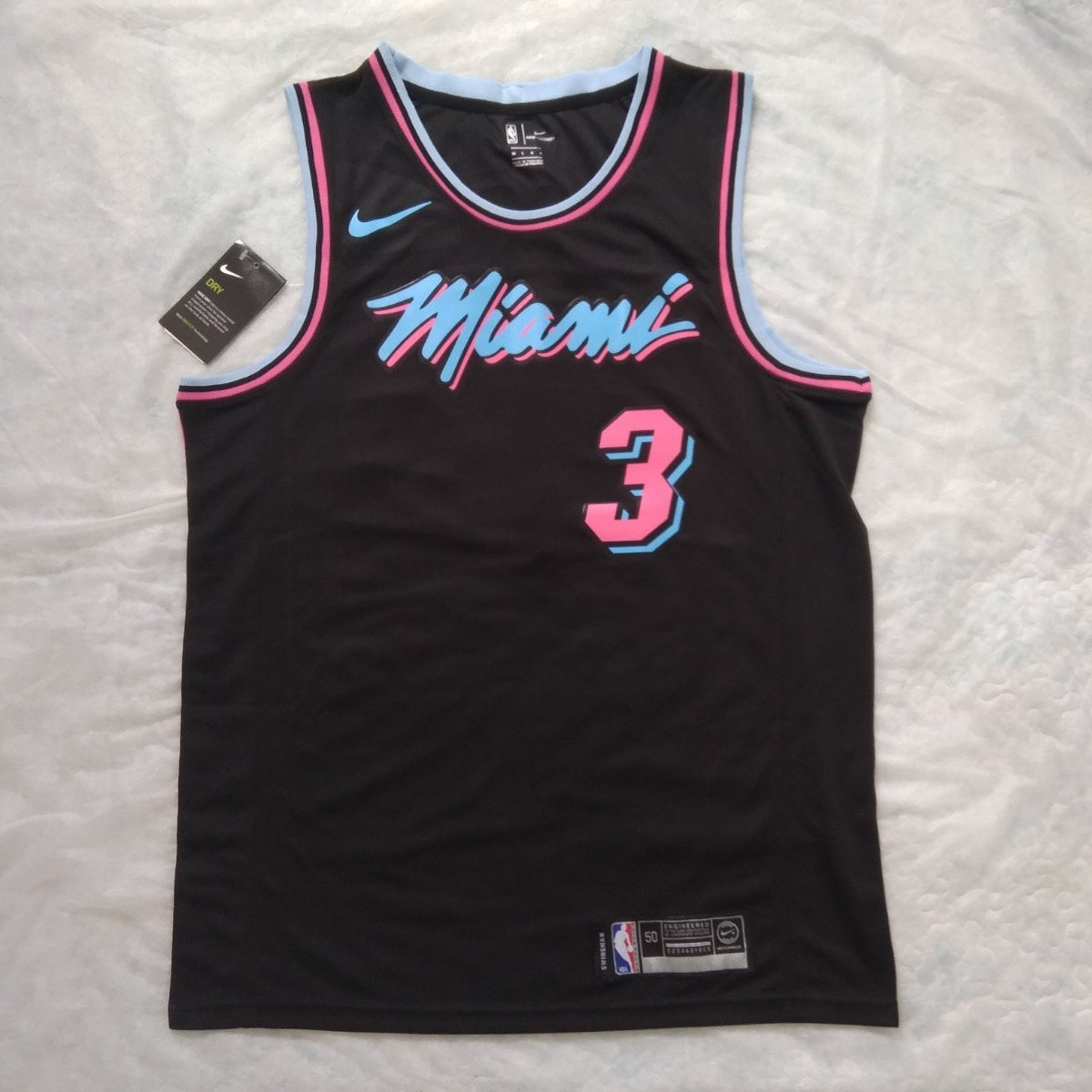 outlet store 99563 1f80a Jersey Miami Heat City Edition Wade #3