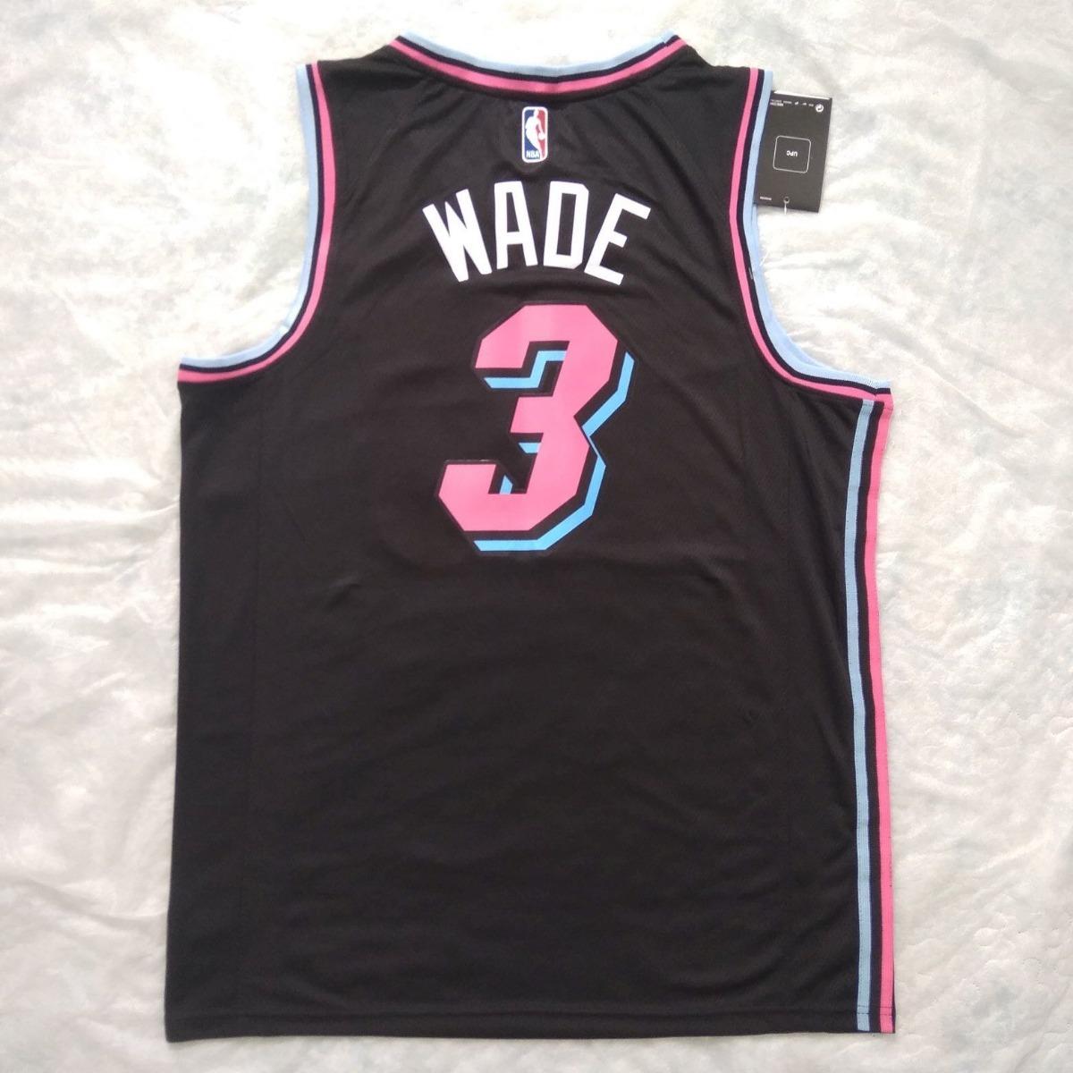 outlet store 47e7c cbf6e Jersey Miami Heat City Edition Wade #3