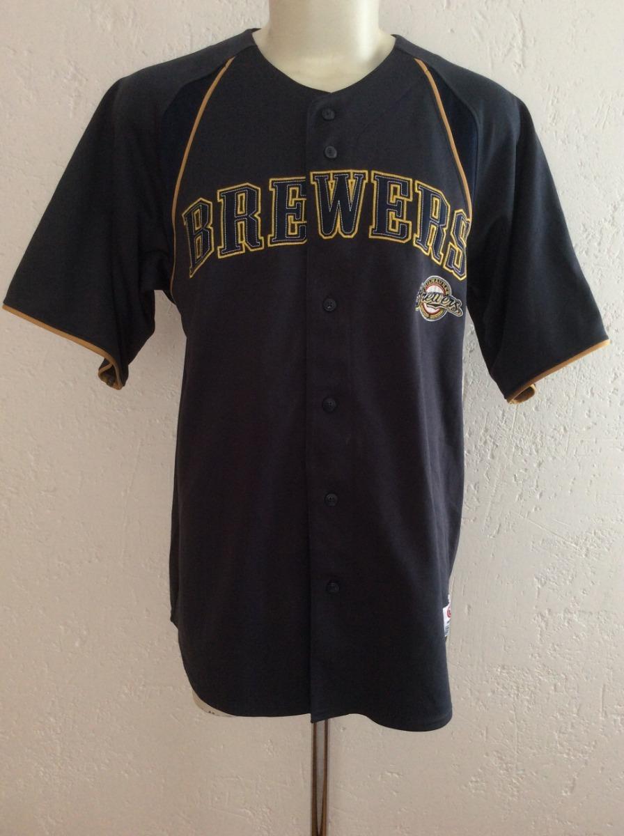 wholesale dealer 6a3af d153c Jersey Milwaukee Brewers Cerveceros Marca True Fan Mlb