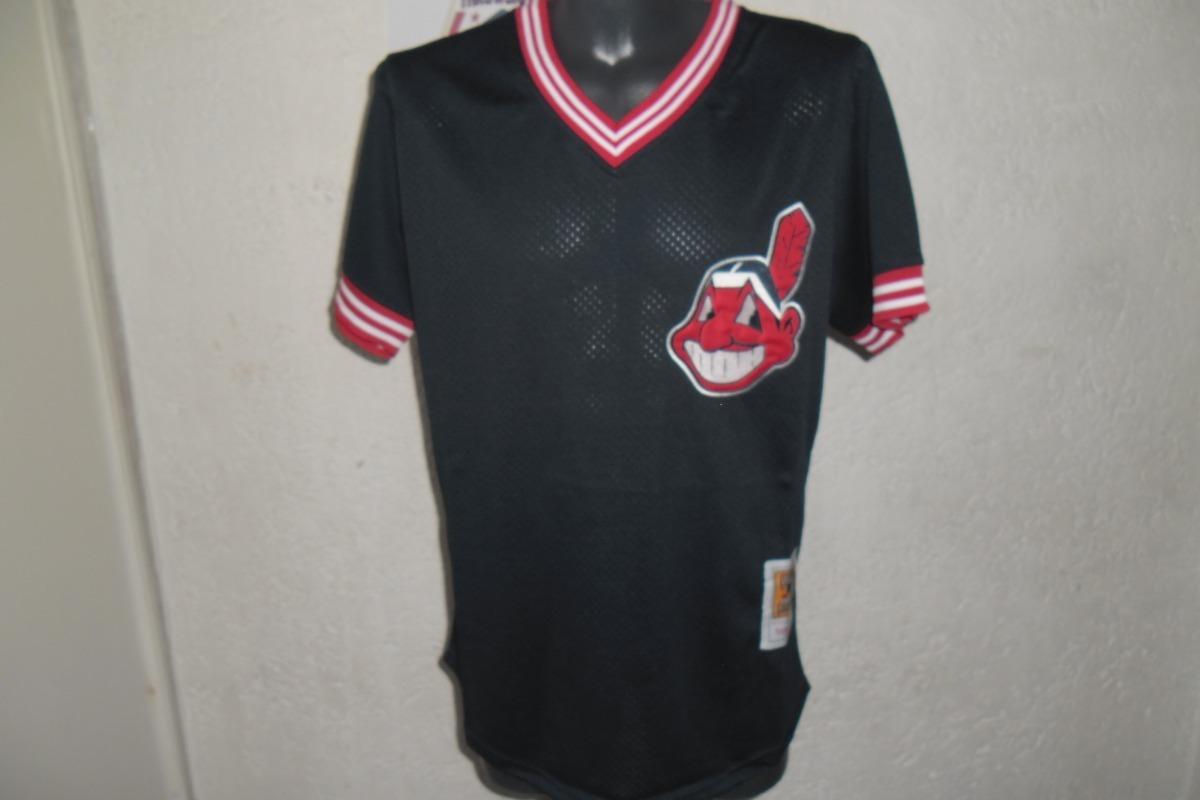 outlet store 2d16a a161a Jersey Mlb Cleveland Indians 1986 Joe Carter Practica De Bat