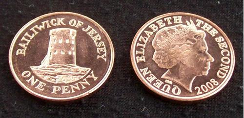 jersey - moneda 1 penique 2008 ¡ sin circular !