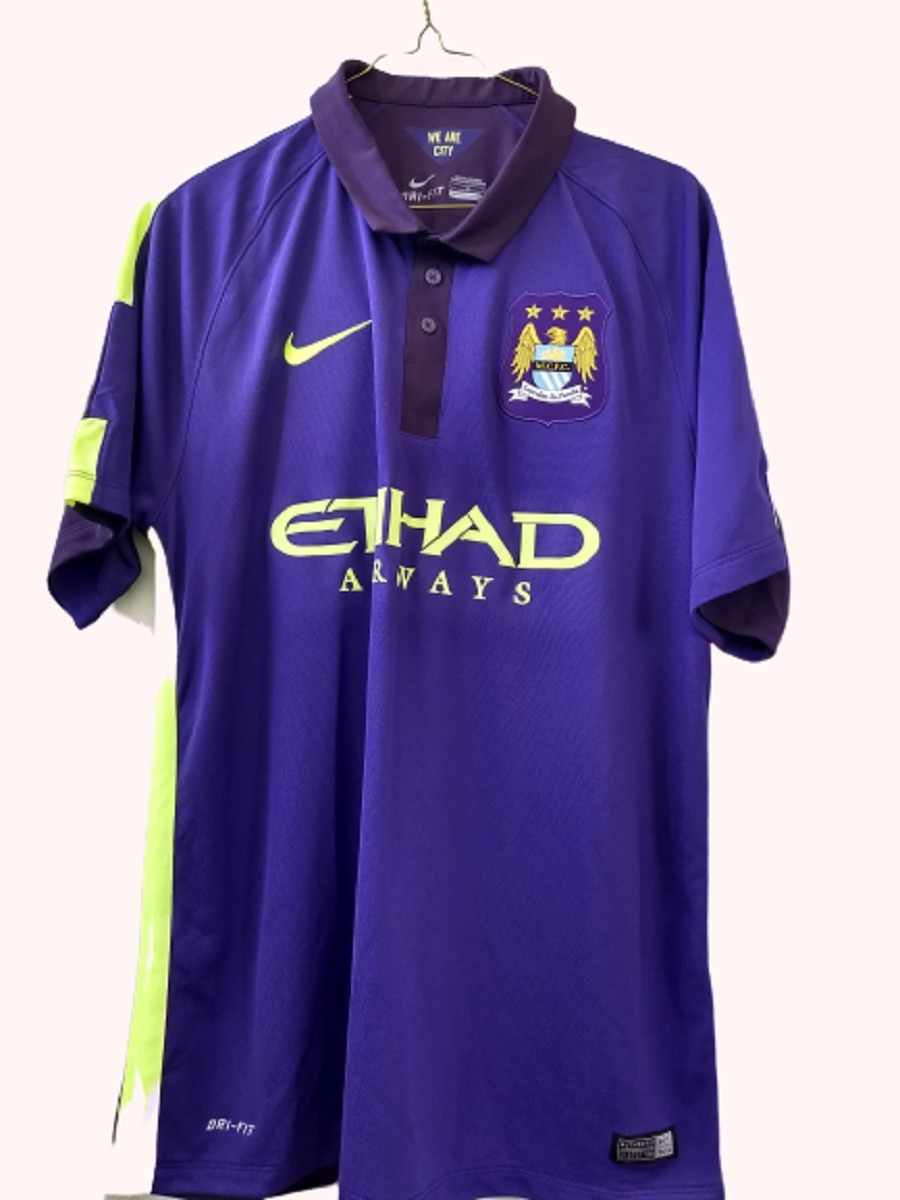 huge selection of cfb34 dadec Jersey Morado Original Manchester City 2014 2015