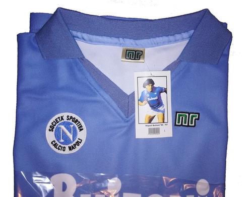 jersey napoli retro 1986-1987 homenaje maradona! 1º scudetto