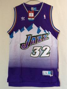 new concept 25bd2 38660 Jersey Nba adidas Carl Malone Utah Jazz Retro Bordado