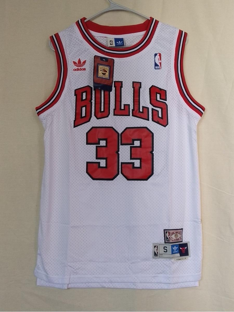 sports shoes 1fc14 1d49f Jersey Nba Chicago Bulls Scottie Pippen adidas Bordado