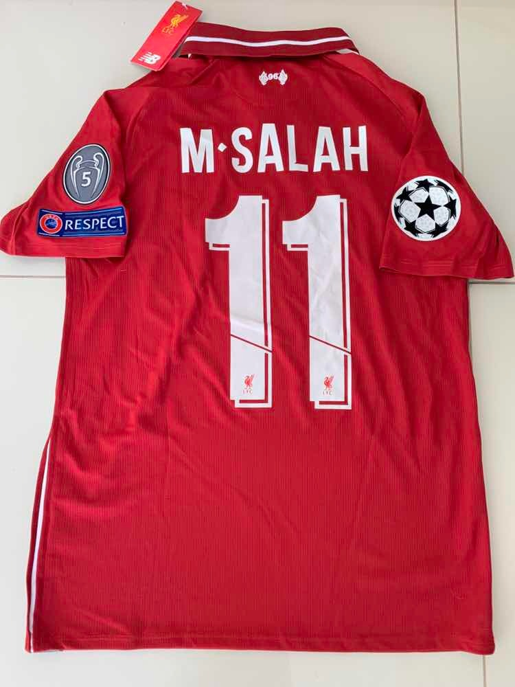 ddd2558f22f Jersey New Balance Liverpool Salah Champions League -   1