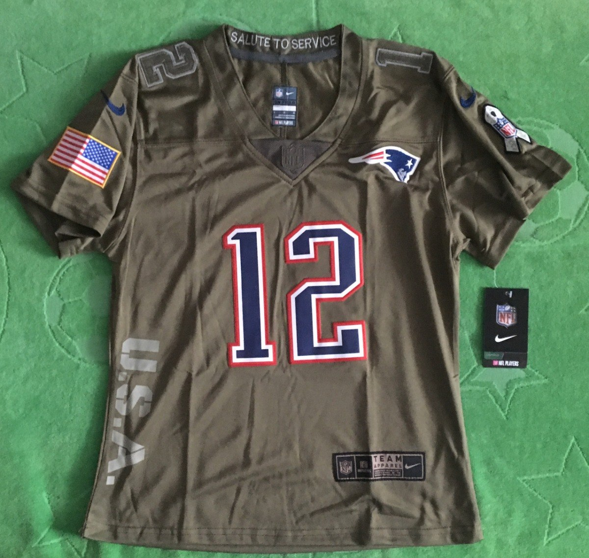 fad9631491d47 jersey new england patriots mujer salute service tom brady. Cargando zoom.