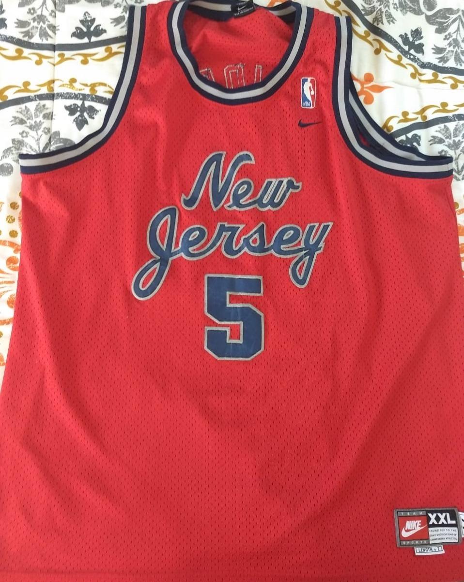 cheaper d2542 355eb Jersey New Jersey Nets Retro, Nike, #5 Jason Kidd