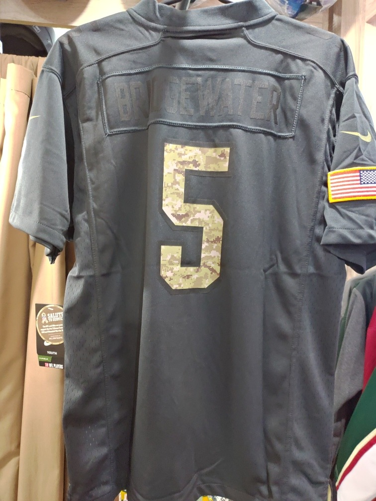 reputable site 159d8 4dee1 Jersey Nfl Vikings Salute To Service Tamanho Youth Xl