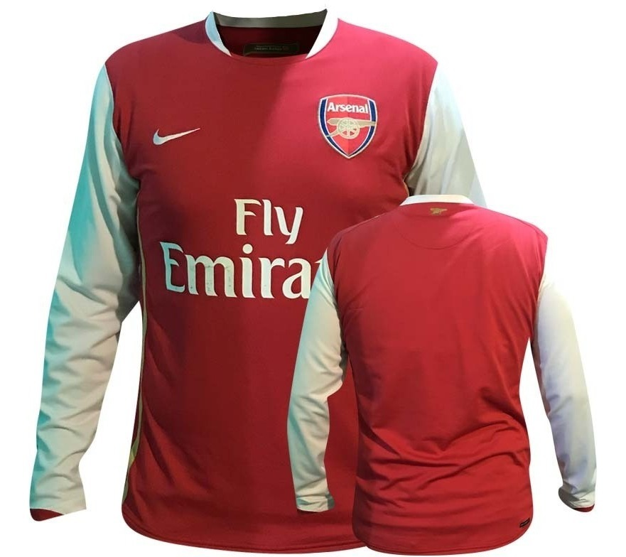 purchase cheap 34c11 696cc Jersey Nike Arsenal Manga Larga 2007 2008 Premier League