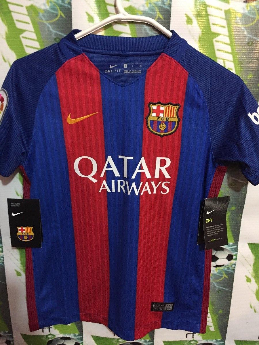 Jersey Nike Barcelona D España 2017 100%original De Niño -   579.00 ... e6b6c397205