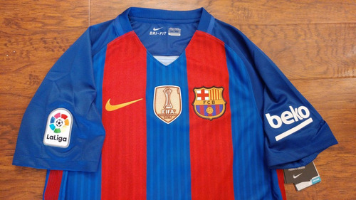 cheap for discount 7fc47 6bbab Jersey Nike Barcelona Local 2016-17 C/ Num Original 100%