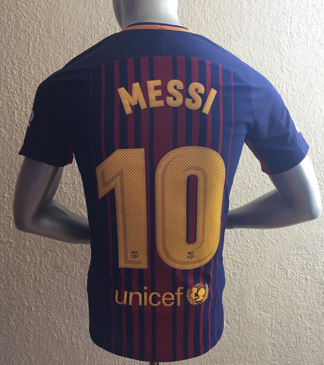 Jersey Nike Barcelona Messi Número Profesional Aeroswift 18 ... 1beb99c7a3c