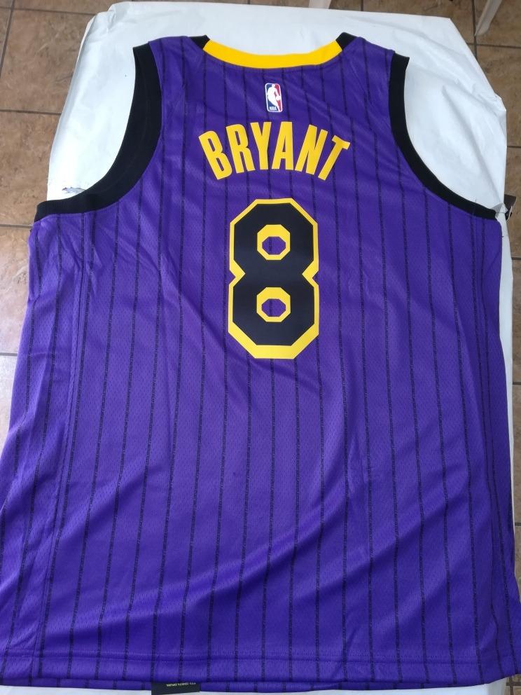 eebca87eb Jersey Nike Los Angeles Lakers Kobe Bryant  8 Jordan Lebron ...