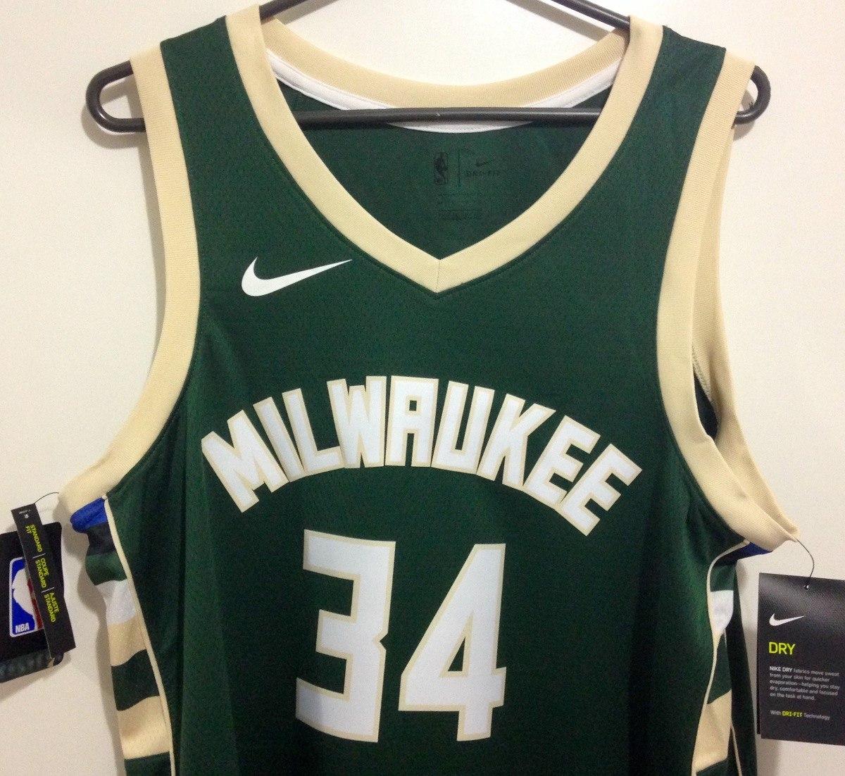 big sale 8d7c9 02f76 Jersey Nike Nba Milwaukee Bucks Giannis Antetokounmpo 2019