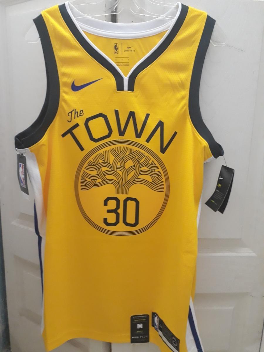 brand new f12b4 51e4a Jersey Nike Nba Stephen Curry Swingman Gsw Town Talla M (44)