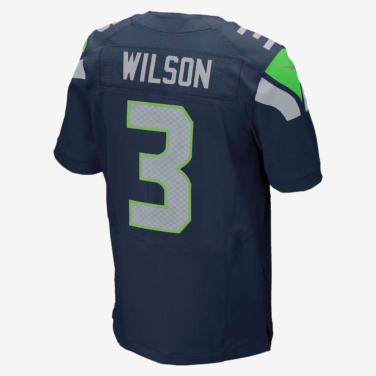 Jersey Nike Seattle Seahawks Russell Wilson Navy Blue