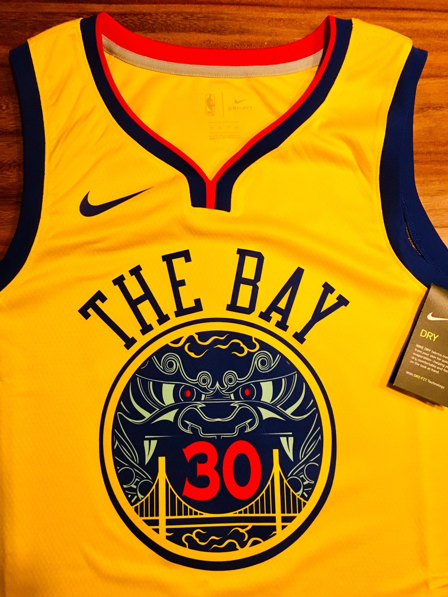 wholesale dealer 04041 96fff Jersey Nike Stephen Curry City Edition Warriors the Bay