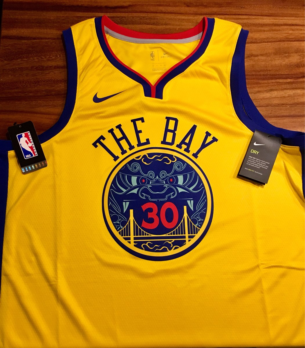wholesale dealer 5e740 30ebb Jersey Nike Stephen Curry City Edition Warriors the Bay
