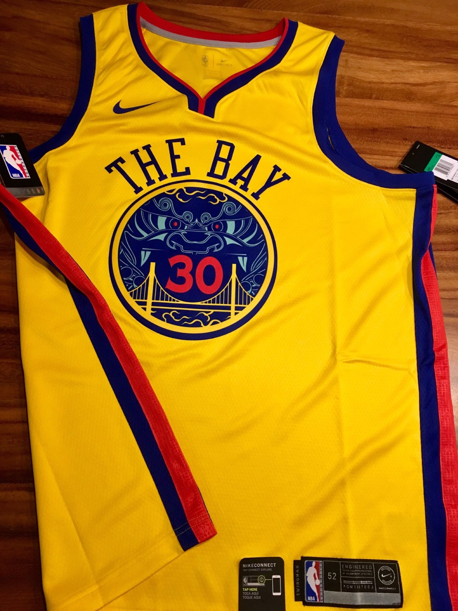 wholesale dealer 0cea6 43aed Jersey Nike Stephen Curry City Edition Warriors the Bay