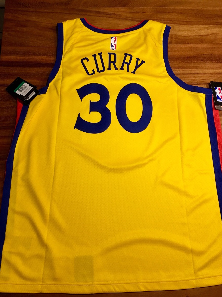 wholesale dealer 2d875 64d38 Jersey Nike Stephen Curry City Edition Warriors the Bay