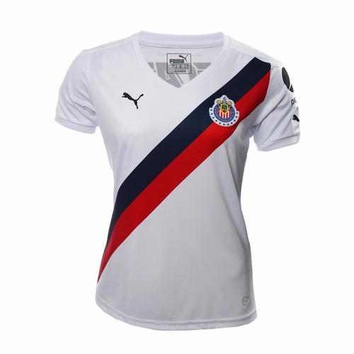 jersey oficial chivas guadalajara 2016-2017 puma blanca dama