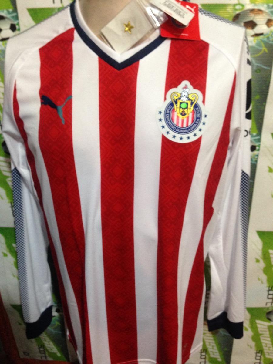 Jersey Oficial Chivas Puma 100%original 2018 Manga Larga -   599.00 ... dea178d372974