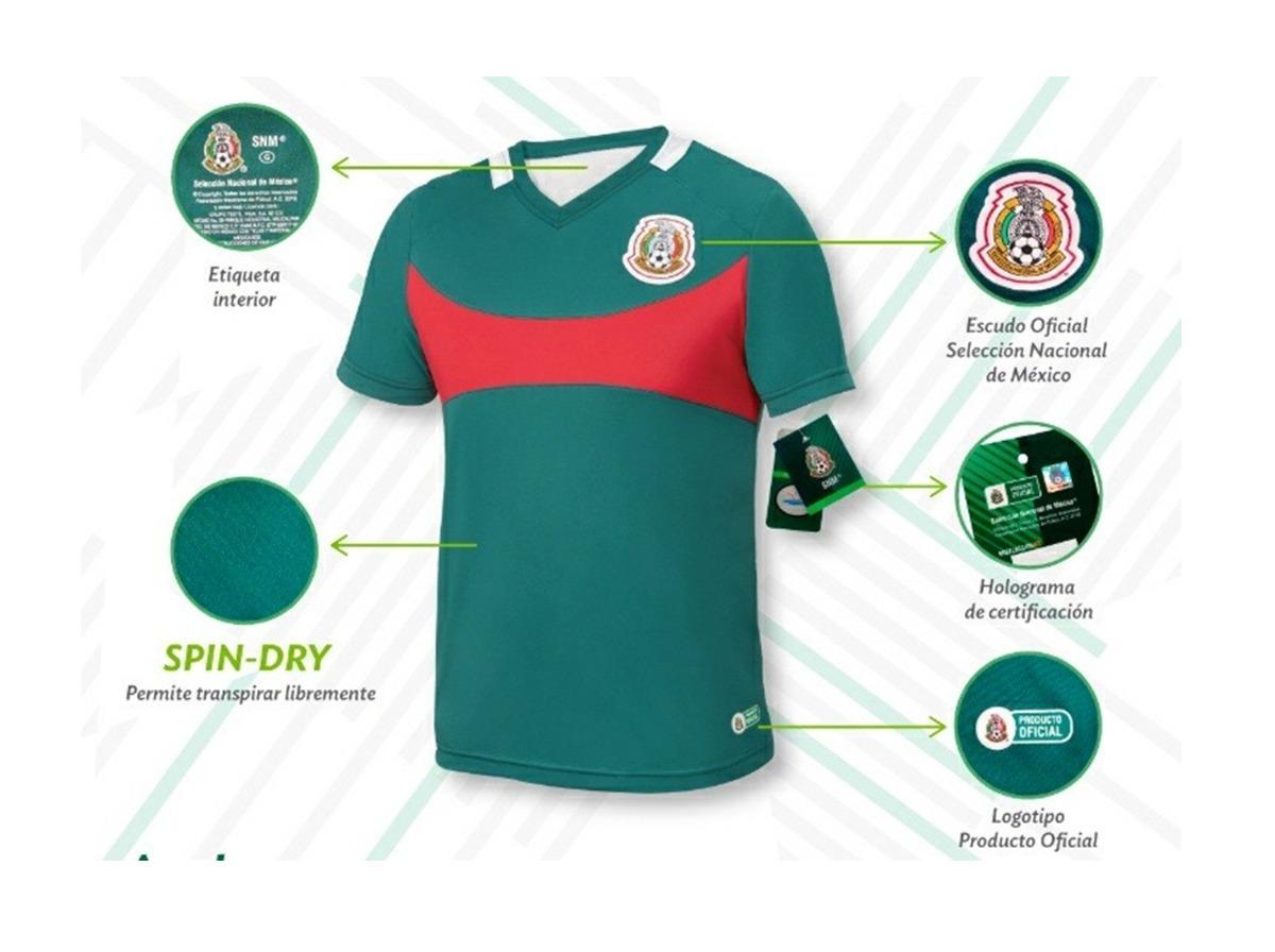 f36f416660617 Jersey Oficial Para Apoyar Seleccion Mexicana -   349.00 en Mercado ...