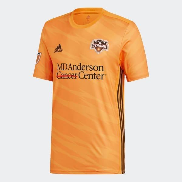 Negro Adidas MLS Houston Dynamo Auténtico Para Hombre Manga Larga Jersey