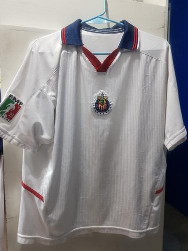 jersey original chivas jvc  blanca 2003 talla chica