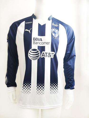 jersey original puma rayados local versión jugador 2018 ofer
